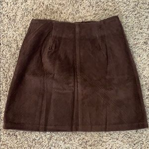 Brown Suede Corduroy Skirt Size 1
